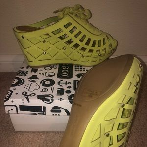 Lime Green Wedges